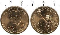 Изображение Монеты США 1 доллар 2014 Медно-никель UNC- Уоррен Гардинг. D.
