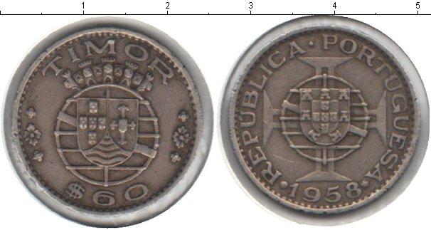 Картинка Мелочь Тимор 60 сентаво Медно-никель 1958