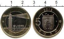 Изображение Мелочь Финляндия 5 евро 2013 Биметалл UNC- маяк