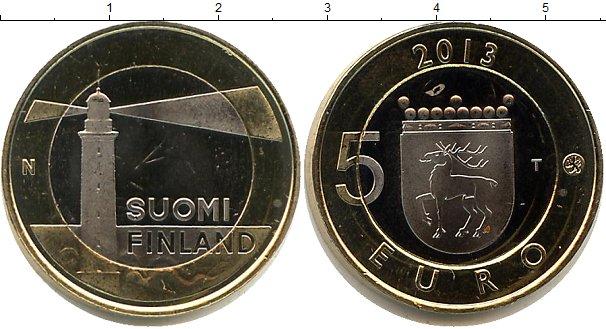 Картинка Мелочь Финляндия 5 евро Биметалл 2013