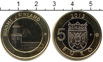 Изображение Мелочь Финляндия 5 евро 2013 Биметалл UNC-