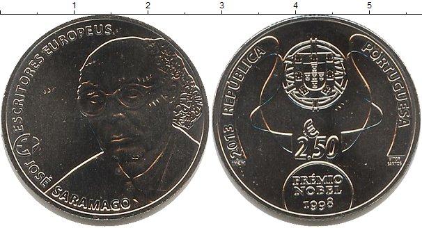 Картинка Мелочь Португалия 2 1/2 евро Медно-никель 2013