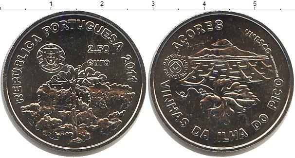 Картинка Мелочь Португалия 2 1/2 евро Медно-никель 2011