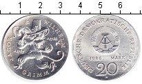 Изображение Монеты ГДР 20 марок 1986 Серебро UNC- 200 Лет со дня Рожде