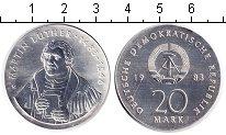 Изображение Монеты ГДР 20 марок 1983 Серебро UNC- 500 лет со дня Рожде