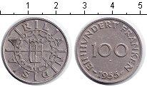 Изображение Монеты Саар 100 франков 1955 Медно-никель