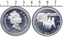 Изображение Монеты Канада 1 доллар 1992 Серебро Proof- Елизавета II