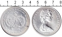 Изображение Монеты Остров Мэн 1 крона 1981 Серебро UNC-