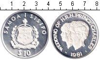 Изображение Монеты Самоа 10 тала 1981 Серебро Proof- Королевская свадьба