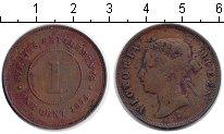 Изображение Монеты Стрейтс-Сеттльмент 1 цент 1874 Медь VF