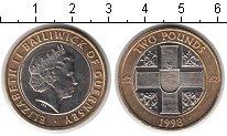Изображение Мелочь Гернси 2 фунта 1998 Биметалл XF Елизавета II
