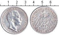 Изображение Монеты Пруссия 3 марки 1910 Серебро  Вильгельм II. A