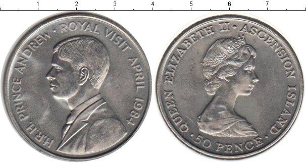 Картинка Мелочь Аскенсион 50 пенсов Медно-никель 1984