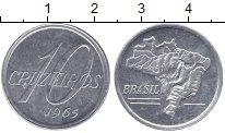 Изображение Мелочь Бразилия 10 крузейро 1965 Алюминий UNC-