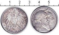 Изображение Монеты Баден 2 марки 1906 Серебро XF Золотая свадьба Фрид