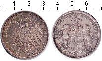 Изображение Монеты Гамбург 3 марки 1911 Серебро XF