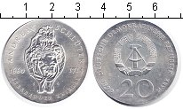 Изображение Монеты ГДР 20 марок 1990 Серебро  Андреас Шлютер
