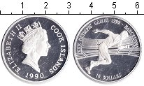 Изображение Монеты Острова Кука 10 долларов 1990 Серебро Proof- Барселона 1992