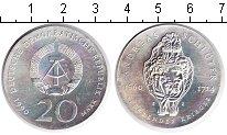 Изображение Монеты ГДР 20 марок 1990 Серебро UNC-