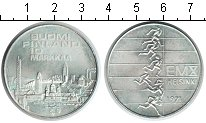 Изображение Монеты Финляндия 10 марок 1971 Серебро UNC Чемпионат Европы по