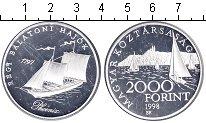 Изображение Монеты Венгрия 2000 форинтов 1998 Серебро Proof- парусное судно