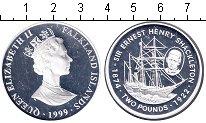 Изображение Монеты Фолклендские острова 2 фунта 1999 Серебро Proof-