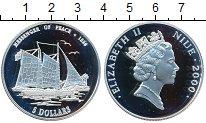 Изображение Монеты Ниуэ 5 долларов 2000 Серебро Proof- Елизавета II. парусн