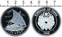 Изображение Монеты Тонга 1 паанга 1998 Серебро Proof-