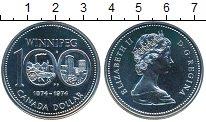 Изображение Монеты Канада 1 доллар 1974 Серебро UNC- Елизавета II. Виннип