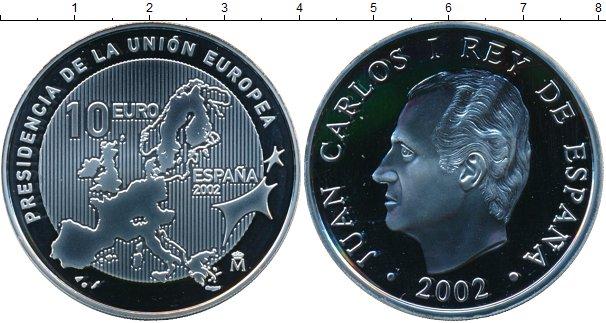 Картинка Монеты Испания 10 евро Серебро 2002