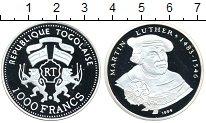 Изображение Монеты Того 1000 франков 1999 Серебро Proof-