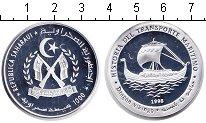 Изображение Монеты Сахара 1000 песет 1998 Серебро Proof- парусное судно