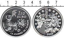 Изображение Монеты Франция 1 1/2 евро 2006 Серебро Proof 120 лет со дня рожде