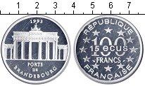 Изображение Монеты Франция 100 франков 1993 Серебро Proof- Бранденбургские воро