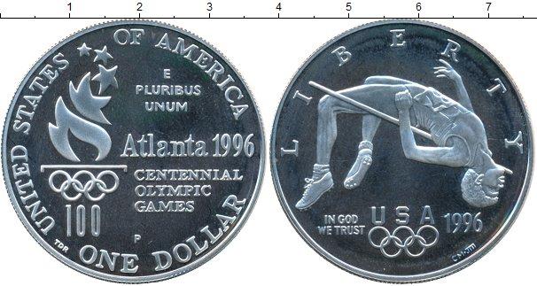 Картинка Монеты США 1 доллар Серебро 1996