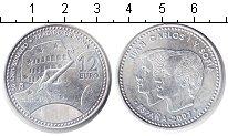 Изображение Монеты Испания 12 евро 2007 Серебро UNC- Хуан Карлос I и Софи