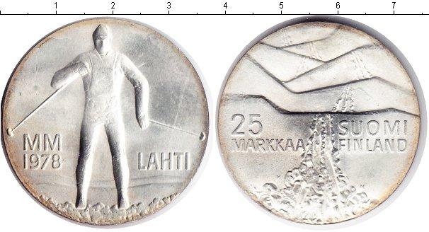 Картинка Монеты Финляндия 25 марок Серебро 1978