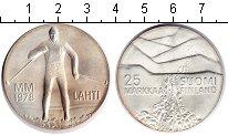Изображение Монеты Финляндия 25 марок 1978 Серебро UNC- Зимние игры