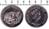 Изображение Монеты Фолклендские острова 50 пенсов 1990 Медно-никель UNC-