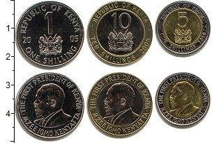 Изображение Наборы монет Кения Кения 2005-2010 0  UNC-