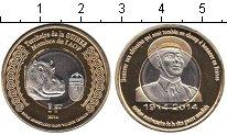 Изображение Мелочь Гвинея 1 франк 2014 Биметалл UNC- бегемот