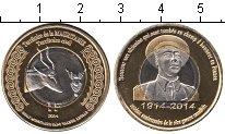 Изображение Мелочь Мавритания 1 франк 2014 Биметалл UNC- антилопа