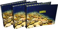 Изображение Аксессуары для монет Альбом российский! <font color=red>NEW</font> Альбом для монет с 10 листами в твёрдом переплёте, 0