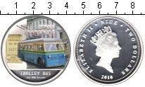 Изображение Монеты Ниуэ 2 доллара 2010 Серебро Proof Троллейбус