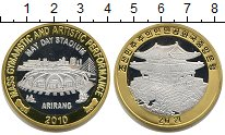 Изображение Монеты Северная Корея 20 вон 2010  Proof- Ариранг