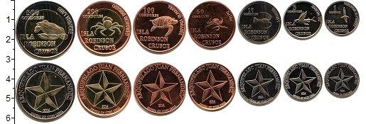 Изображение Наборы монет Остров Робинзона Крузо Остров Робинзона Крузо 2014 2014  UNC- В наборе 7 монет ном