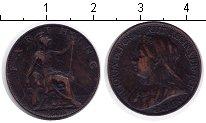 Изображение Монеты Великобритания 1 фартинг 1900 Медь VF