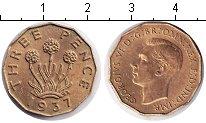 Изображение Монеты Великобритания 3 пенса 1937  XF Георг VI