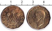 Изображение Монеты Великобритания 3 пенса 1937  UNC-