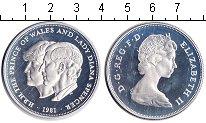 Изображение Монеты Великобритания 25 пенсов 1981 Серебро Proof Свадьба принца Чарль